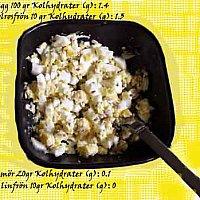 äggfrukost  eller  lunch varma sommardagar