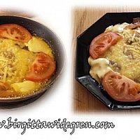 fläsk o bacon omelett