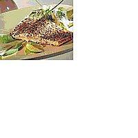 Pepparstekt Lax med Örtpotatismos