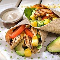 Wraps med Quorn Filéer och grönsaker