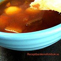 Hösten är här ... Veckans recept..Mustig Gulasch soppa