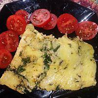 kallellervarm lätt omelett