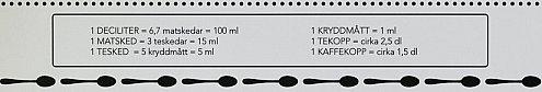 Omvandla volym till liter | Omvandla mellan olika volymm�tt: liter, dl, matsked, tesked, kubik, pint gallon, kopp mm