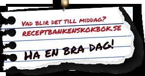 Receptbankens Kokbok - Hej och v�lkommen till Receptbankens kokbok p� n�tet! Tanken med detta forum �r att dela med sig av sina b�sta recept och att h�mta inspiration till kv�llens middag, veckans bak eller en receptbank att sl� i d� du �r godissugen.   Hj�lps vi �t s� kommer vi snart att ha ALLT som beh�vs f�r att lyckas i k�ket.